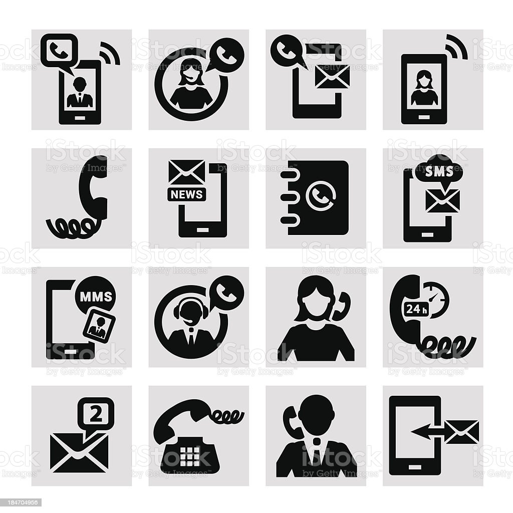 phone vector icons royalty-free stock vector art