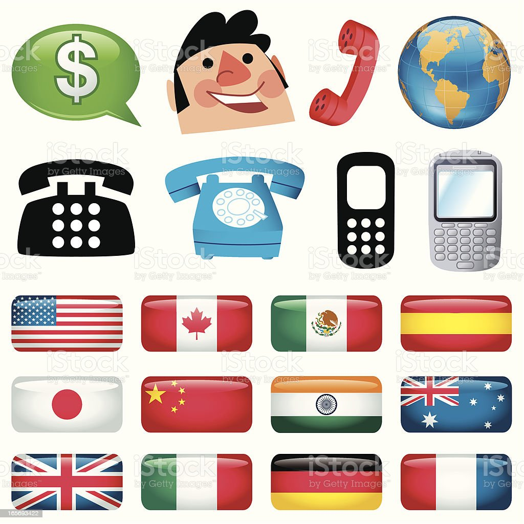 Phonecalls to the World royalty-free stock vector art