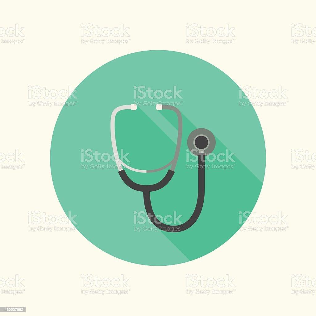 Phonendoscope icon vector art illustration