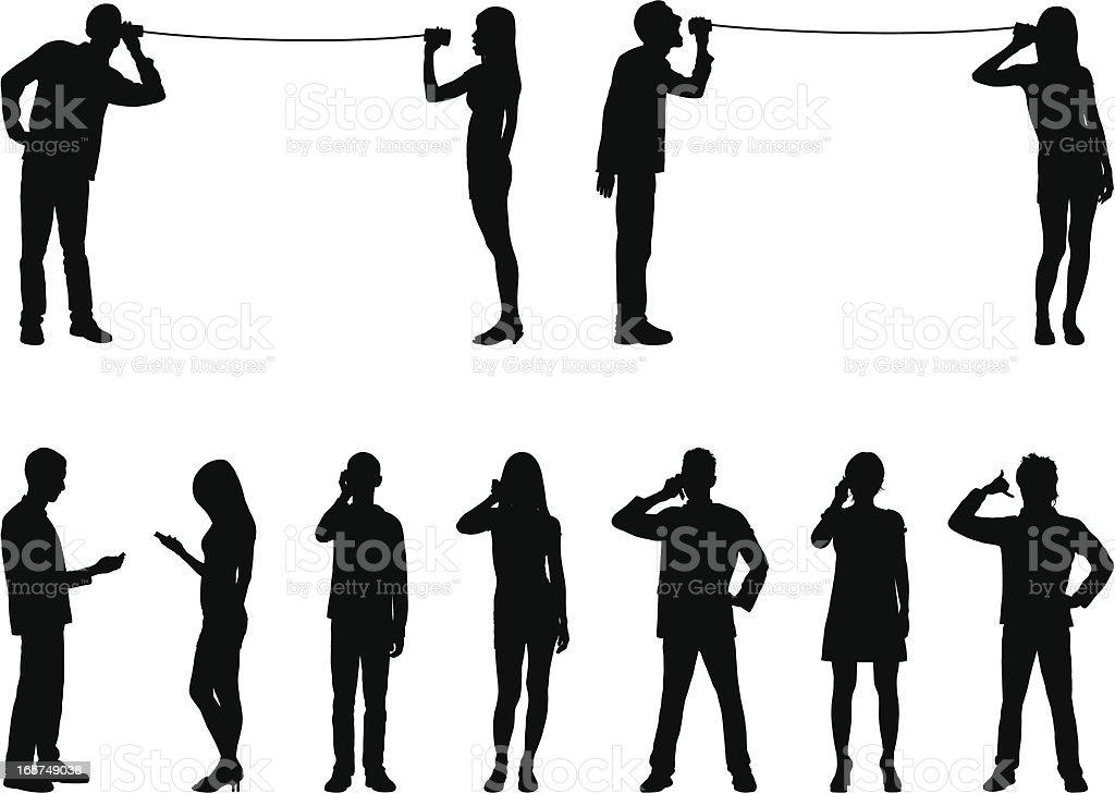 Phones vector art illustration