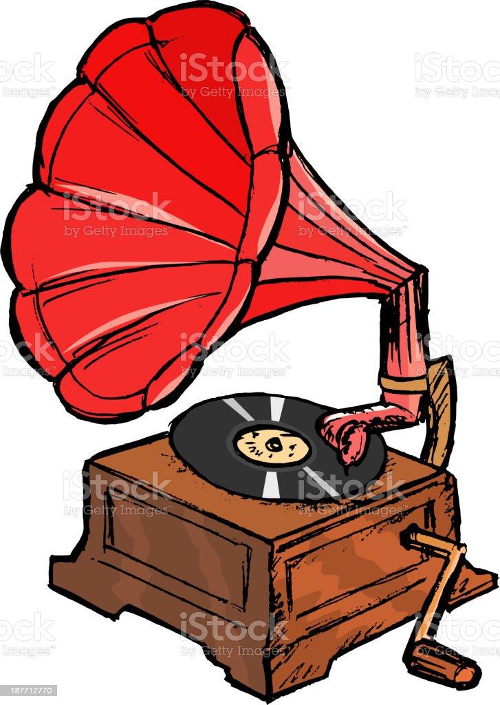 phonograph royalty-free stock vector art
