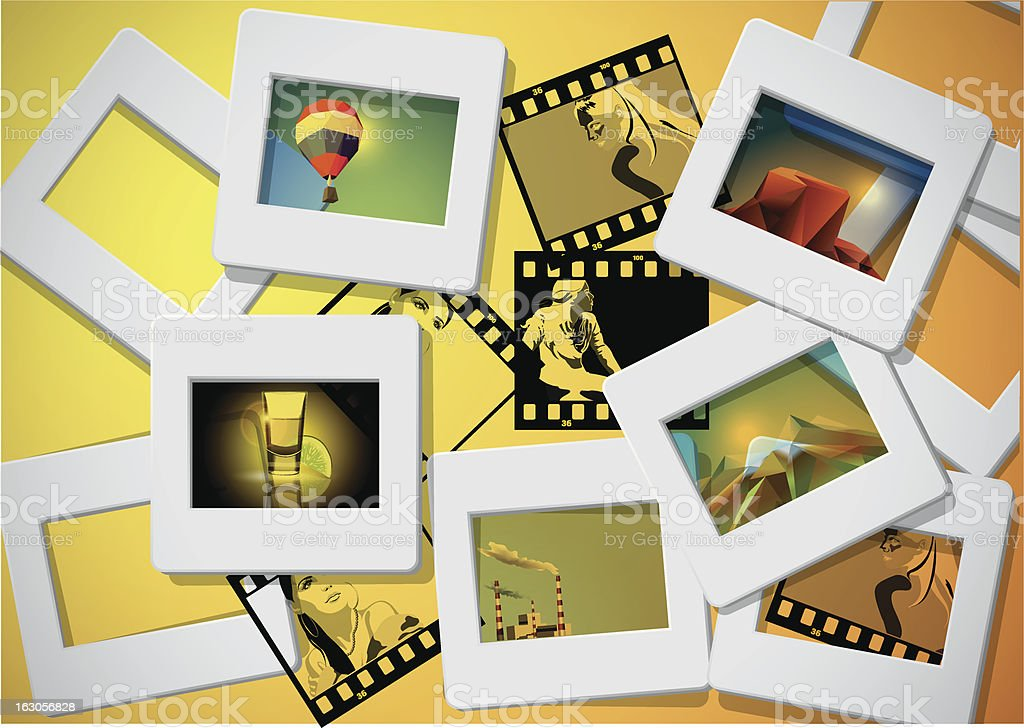 photo and slade frames background royalty-free stock vector art