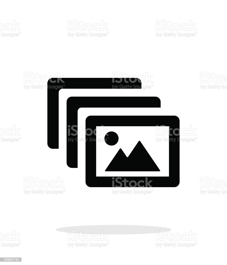 Photo archive icon on white background. vector art illustration