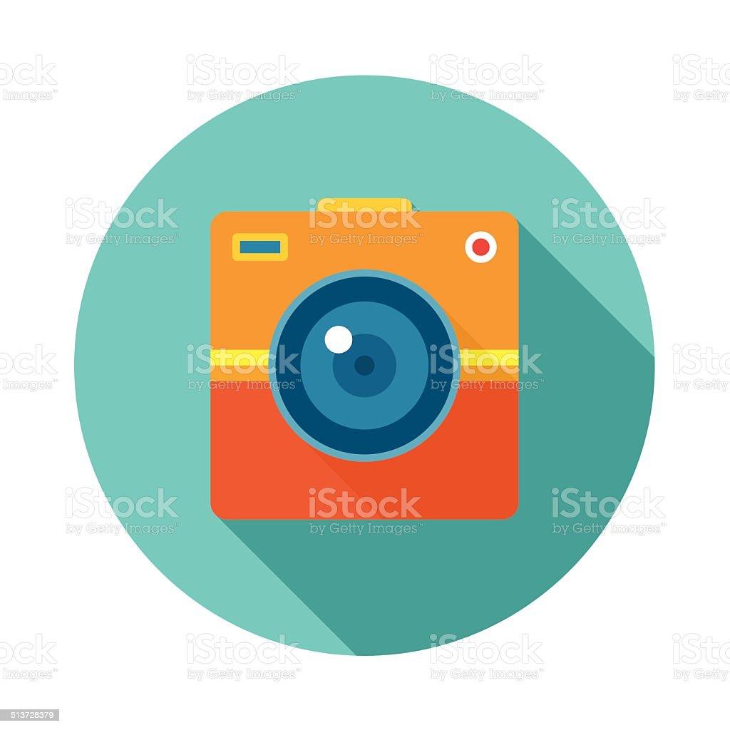 Photo Camera Creative Illustration. Vector icon in flat style design. vector art illustration