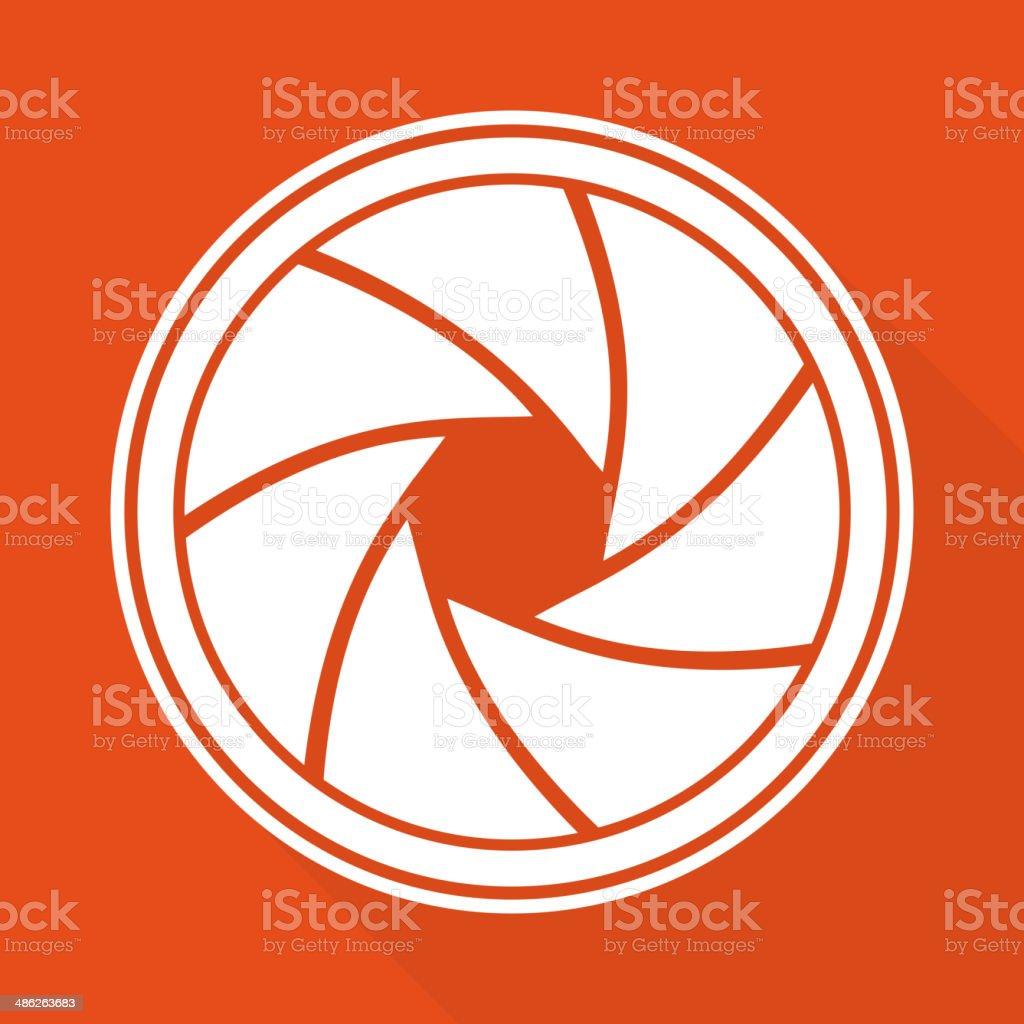 Photo camera diaphragm icon vector art illustration
