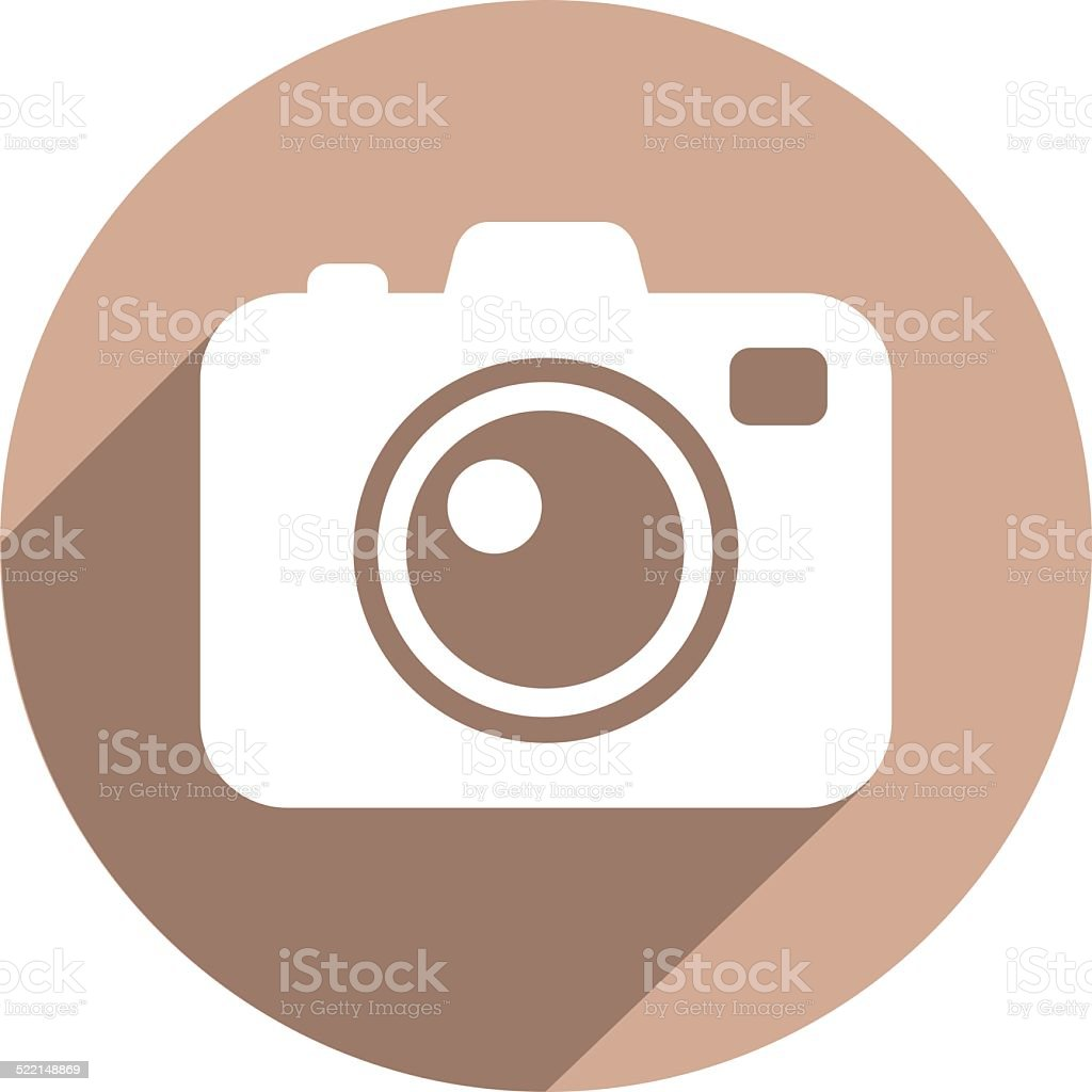 Photo camera flat icon vector art illustration