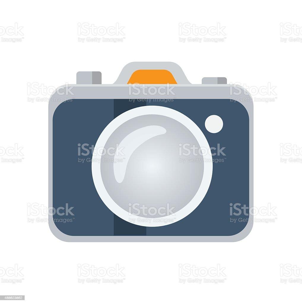 Photo camera flat icon, vector logo vector art illustration