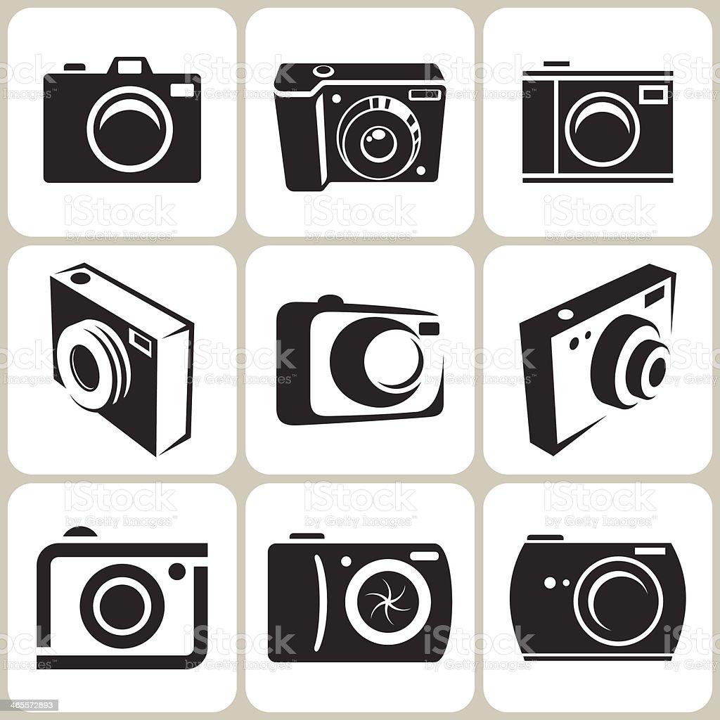 photo camera icon set royalty-free stock vector art