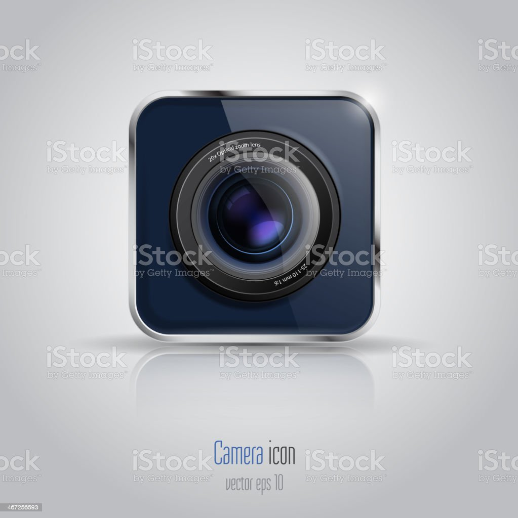 Photo camera icon. royalty-free stock vector art