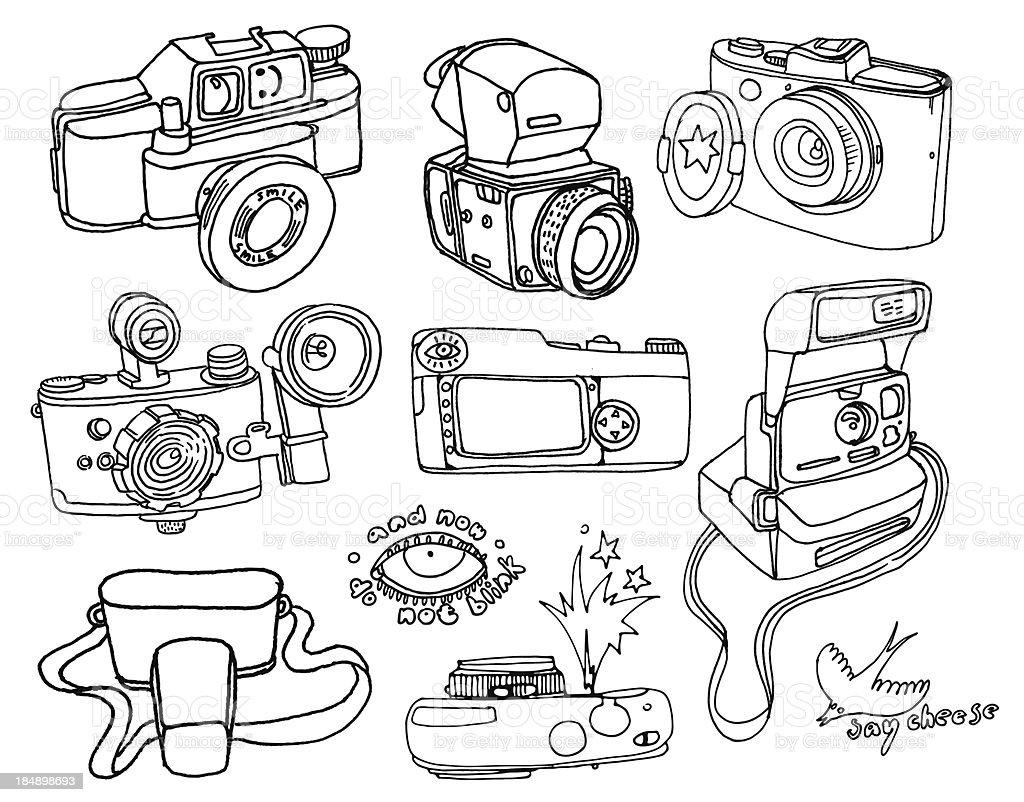 photo camera set royalty-free stock vector art
