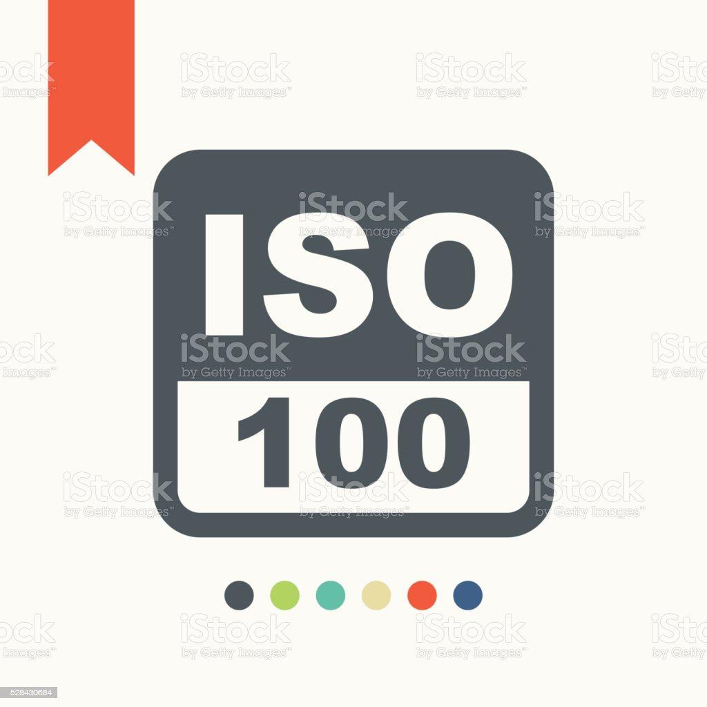 ISO photo camera sign icon vector art illustration
