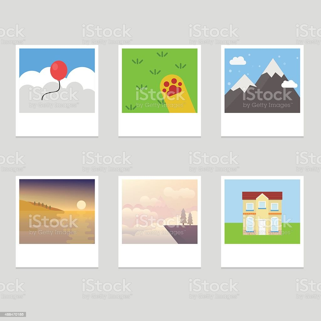 Photo Collection vector art illustration