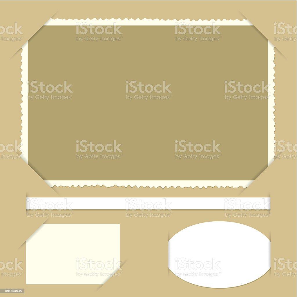 photo corners vector art illustration
