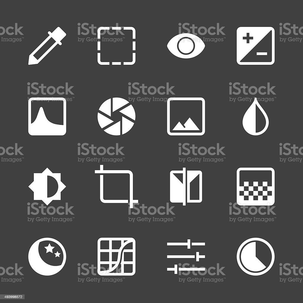 Photo Editor Icons - White Series vector art illustration