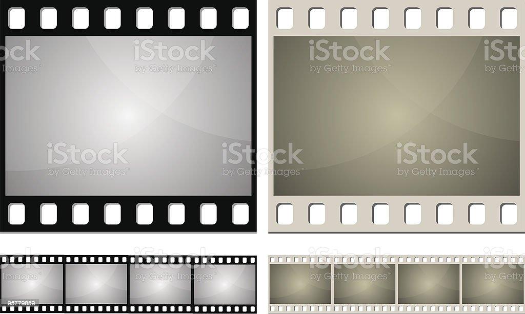 Photo film frame vector art illustration