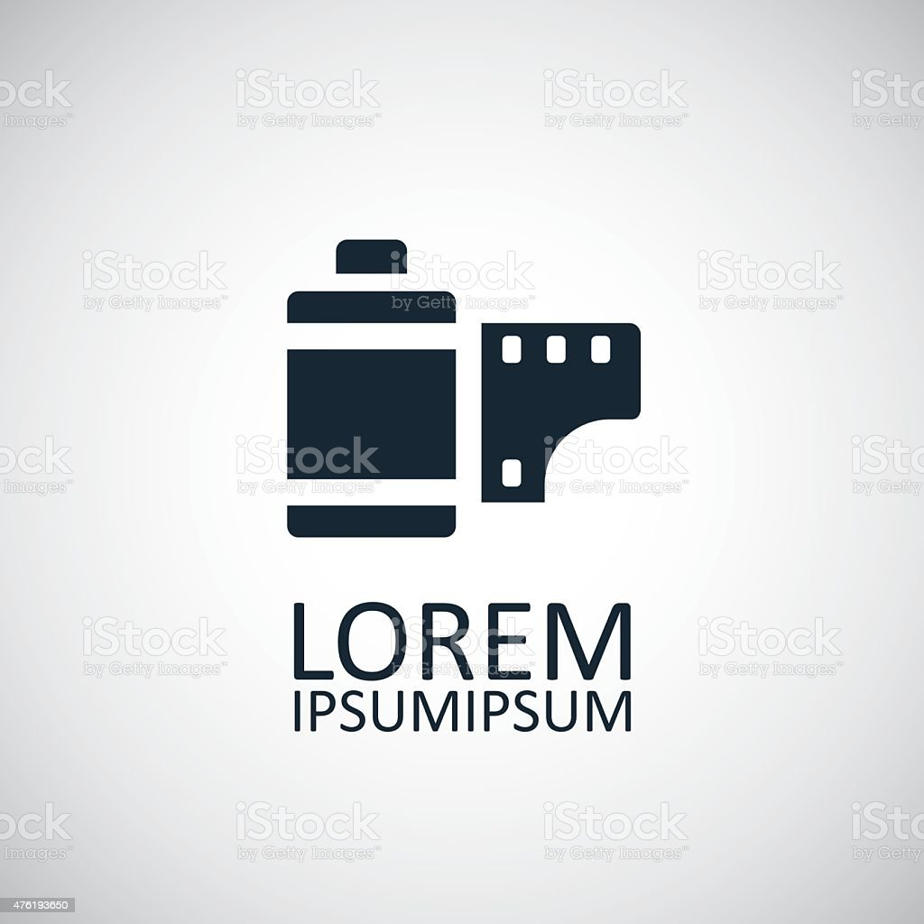 photo film icon vector art illustration