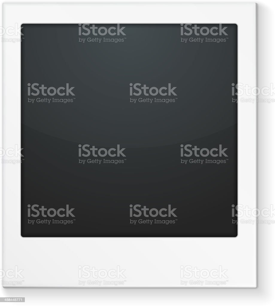 Photo frame in black and white vector art illustration