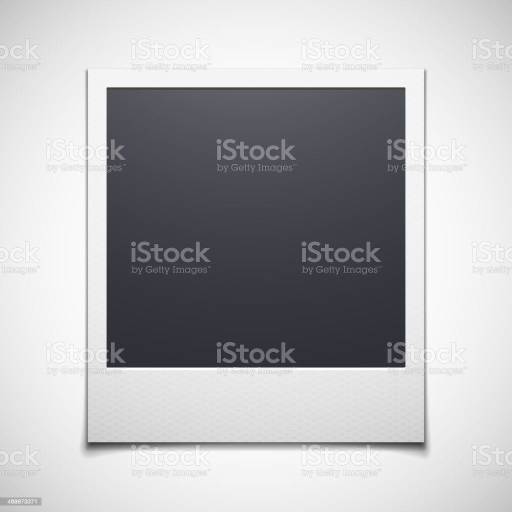 Photo frame isolated on white background vector art illustration