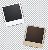 Photo frame on white a plaid background with shadow