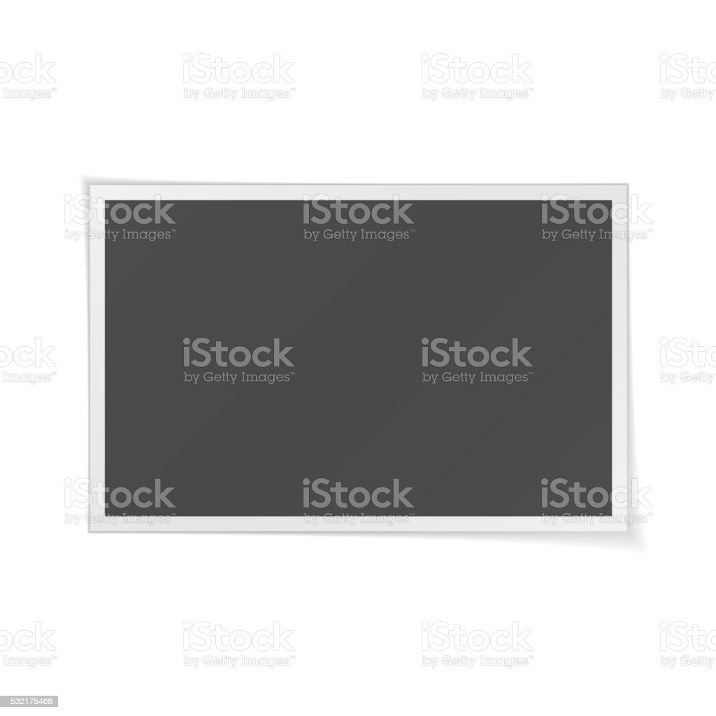 Photo Frame realistic Template vector art illustration