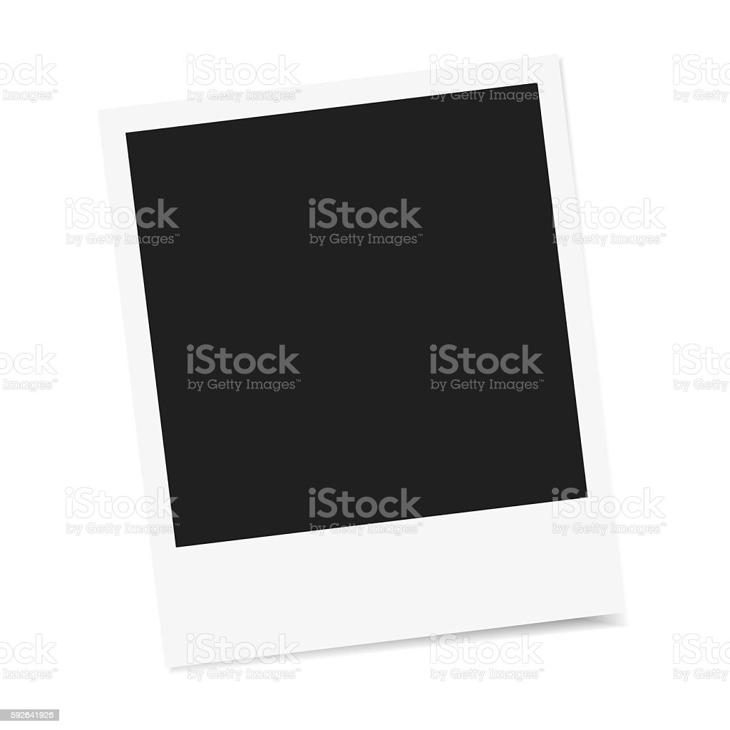Photo frame vector isolated vector art illustration