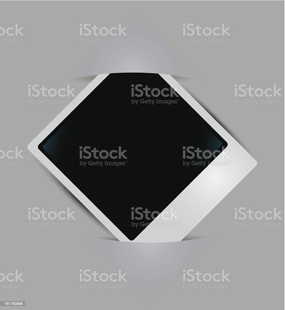 Photo Frame with corners vector art illustration