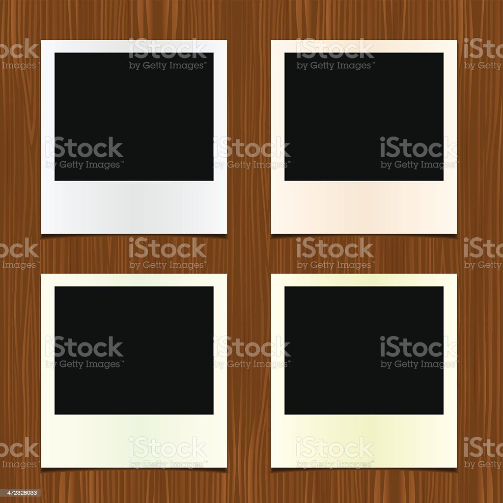 Photo frame with Wooden texture royalty-free stock vector art