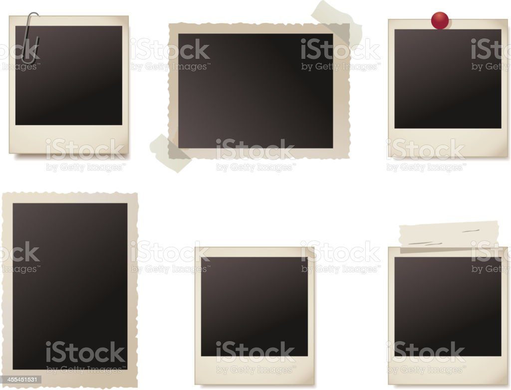 Photo frames collection vector art illustration