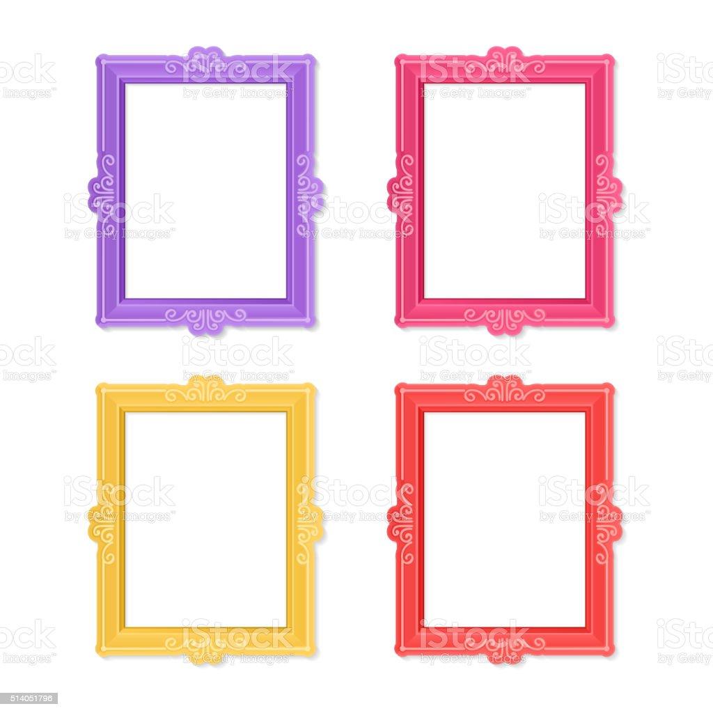 Photo frames concept vector art illustration