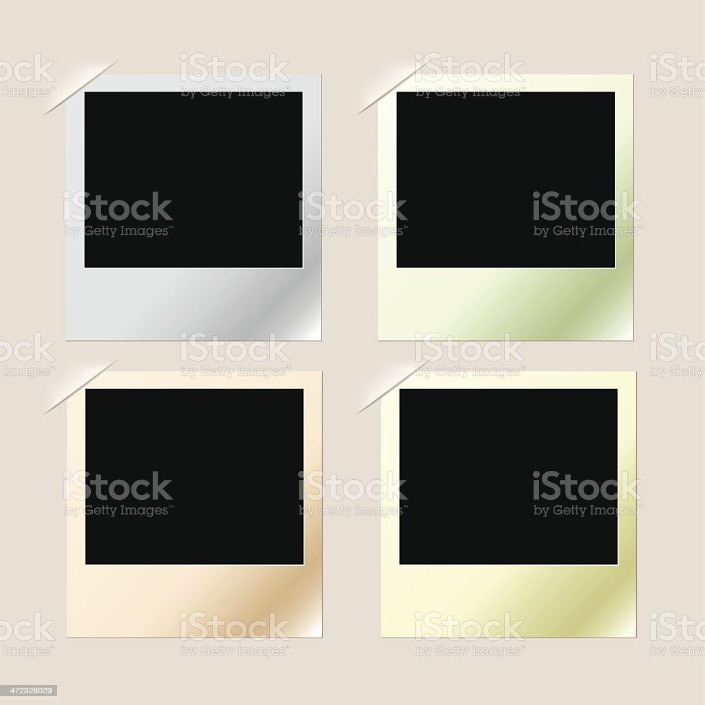 Photo frames royalty-free stock vector art