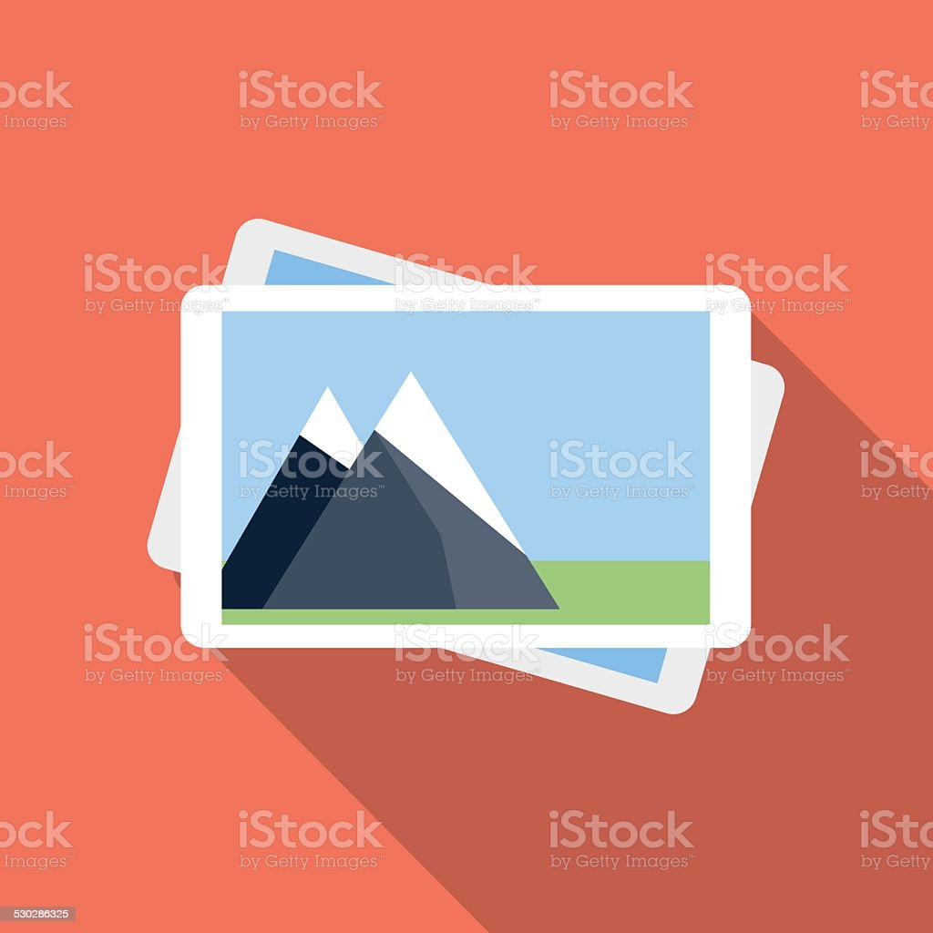 Photo gallery icon vector art illustration