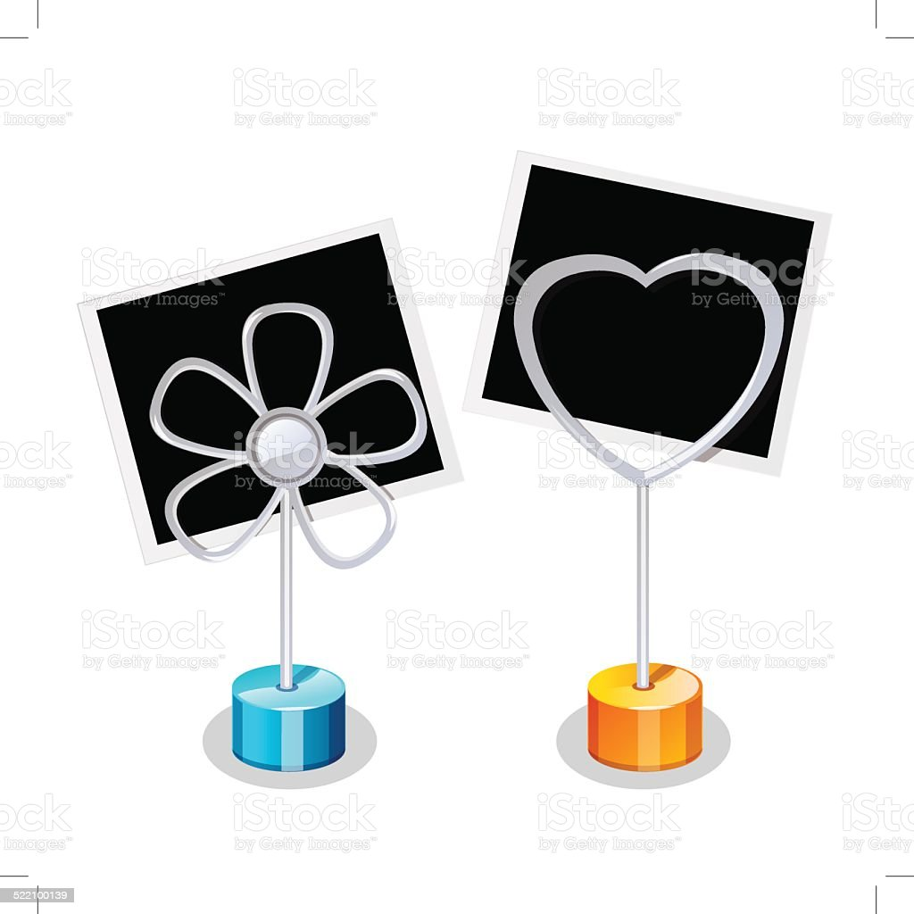 Photo Holder with two Photos royalty-free stock vector art