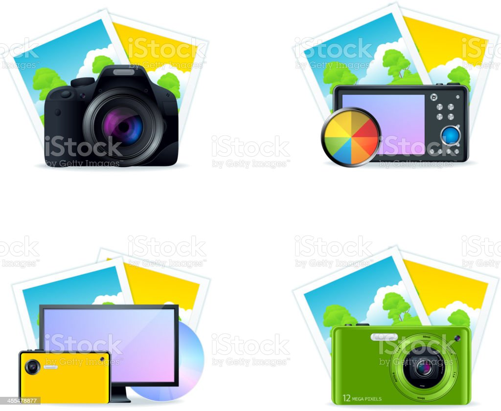 Photo Icons royalty-free stock vector art