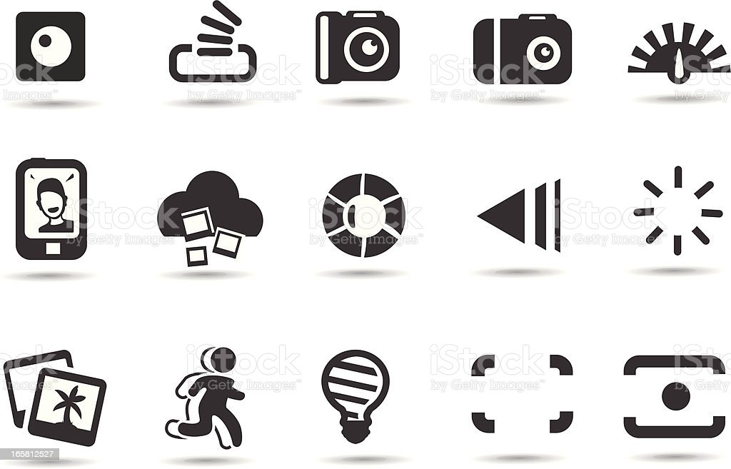 Photo Interface Icons vector art illustration