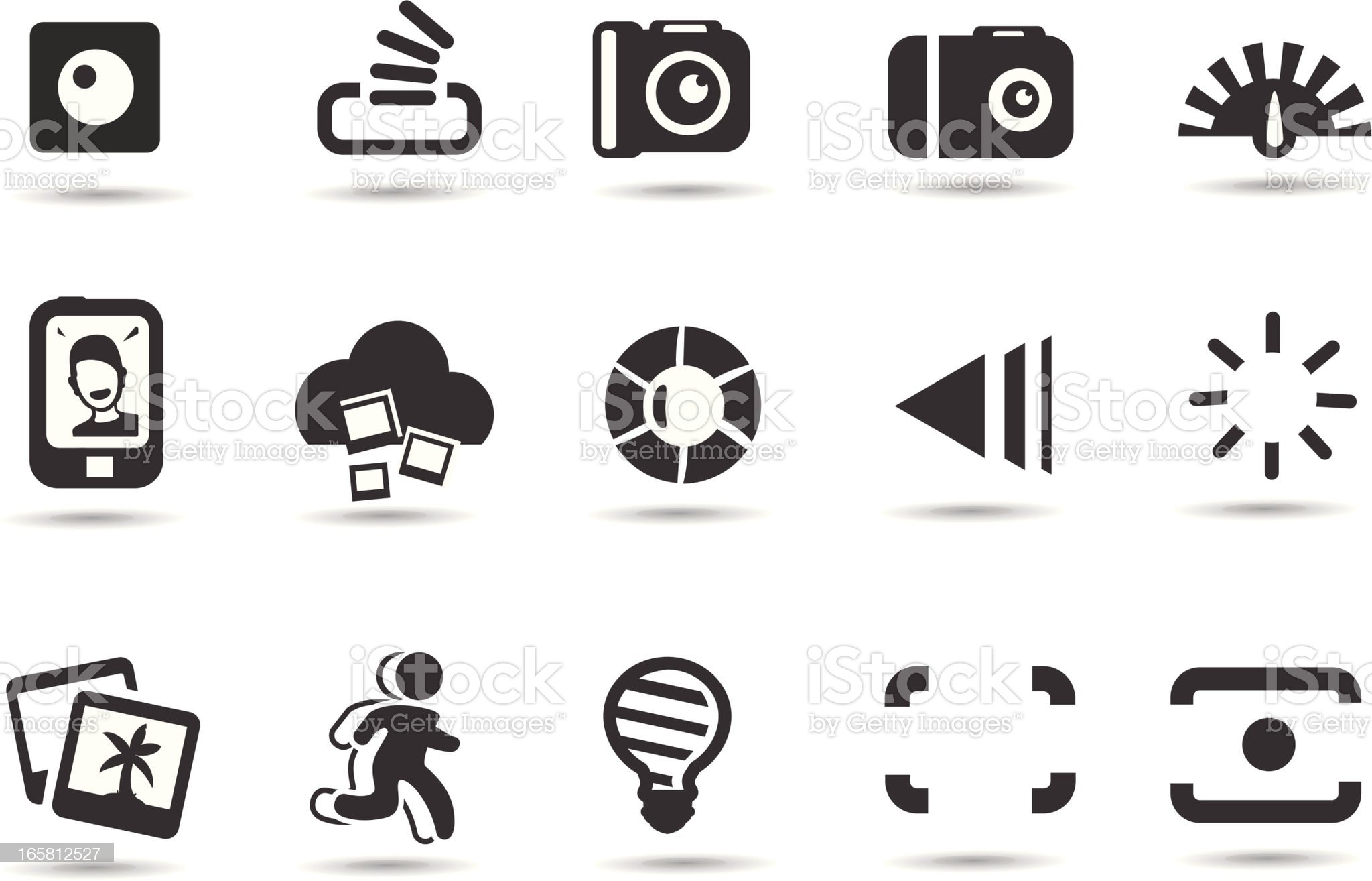 Photo Interface Icons royalty-free stock vector art