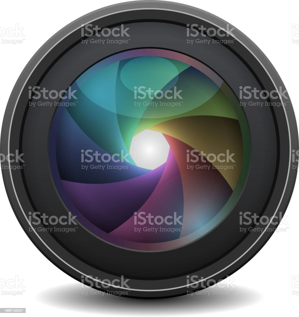 Photo Lens isolated. Vector royalty-free stock vector art