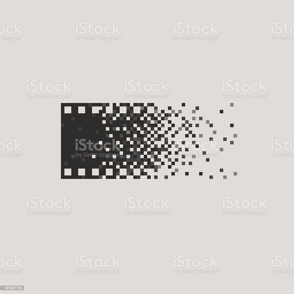 Photo logotype concept analogue digital versus film photography logo photographer vector art illustration