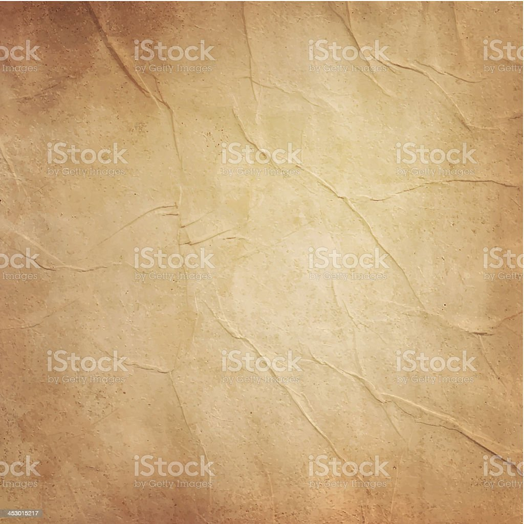 Photo of blank old folded brownish paper vector art illustration