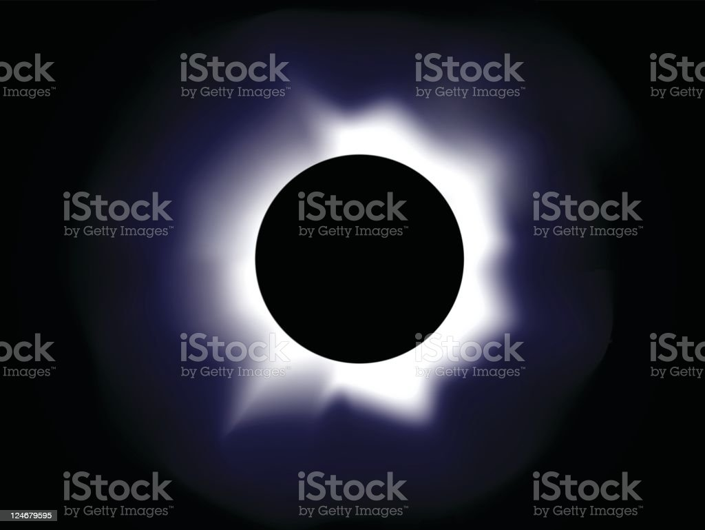 Photo of solar ecplise giving off purple light vector art illustration