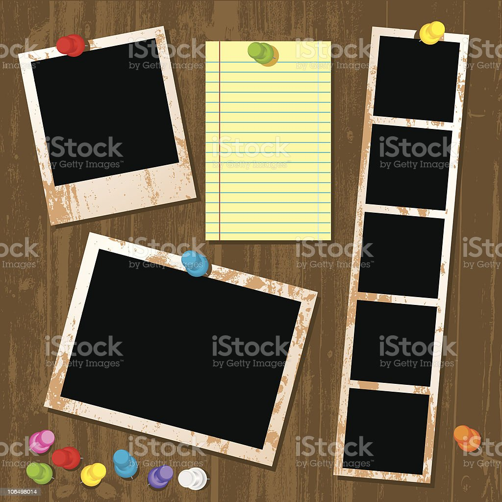 Photo & Paper Interface royalty-free stock vector art