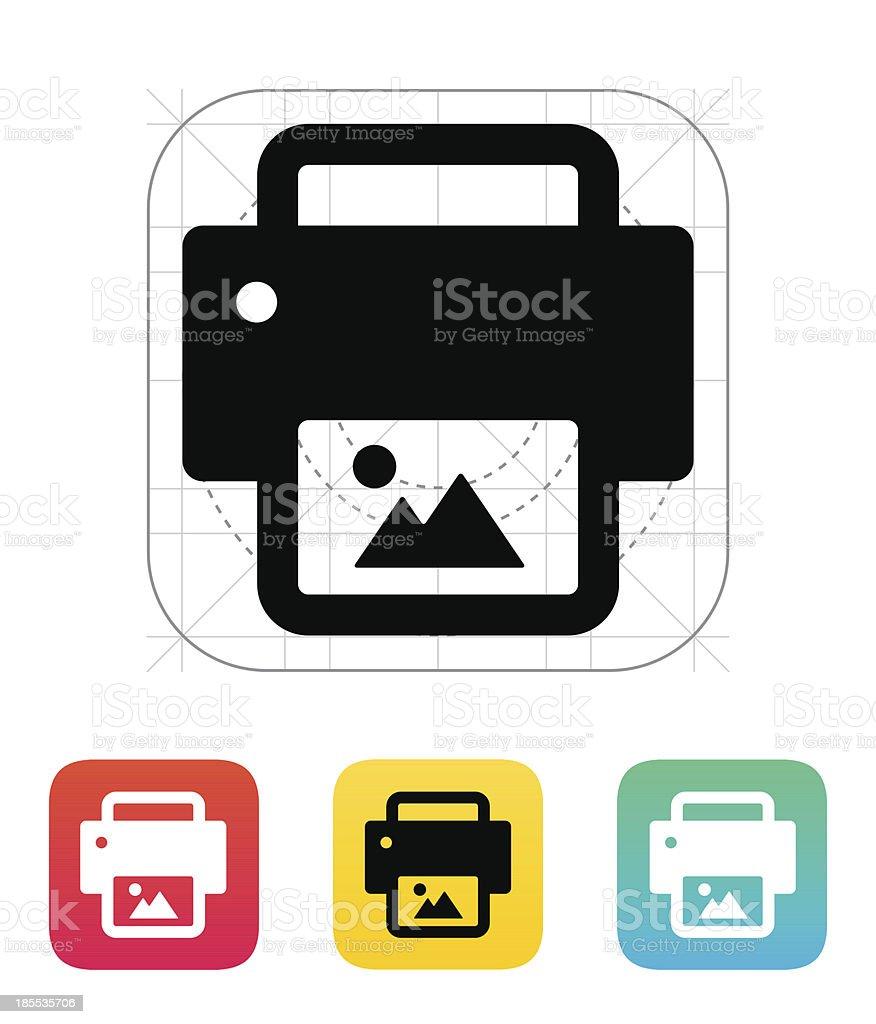Photo print icon. royalty-free stock vector art