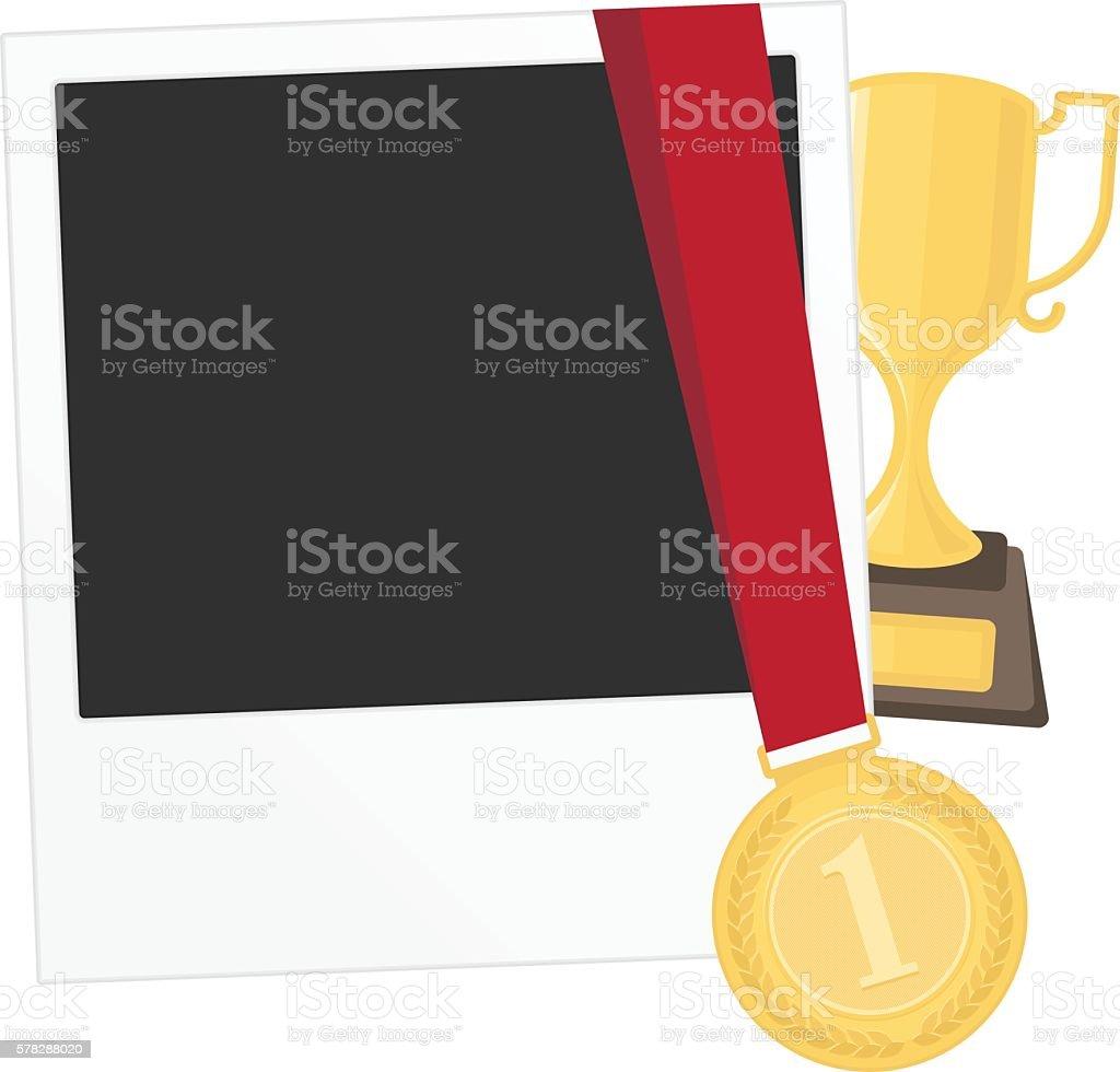 Photo template contest winner vector art illustration