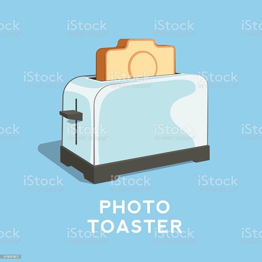 Photo Toaster Abstract Vector Illustration vector art illustration