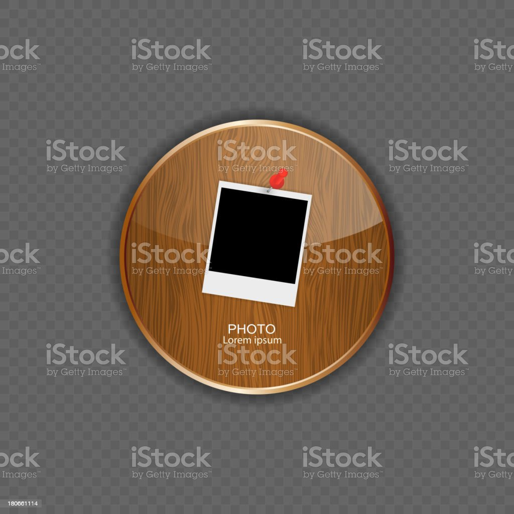 Photo wood application icons vector illustration royalty-free stock vector art
