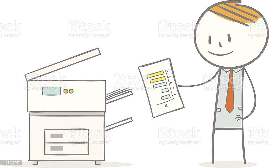 Photocopier royalty-free stock vector art
