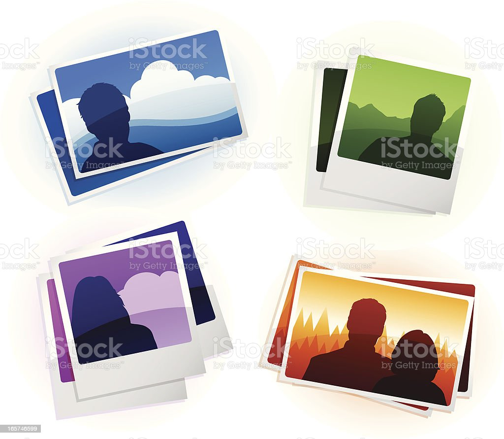 Photograph Icons royalty-free stock vector art