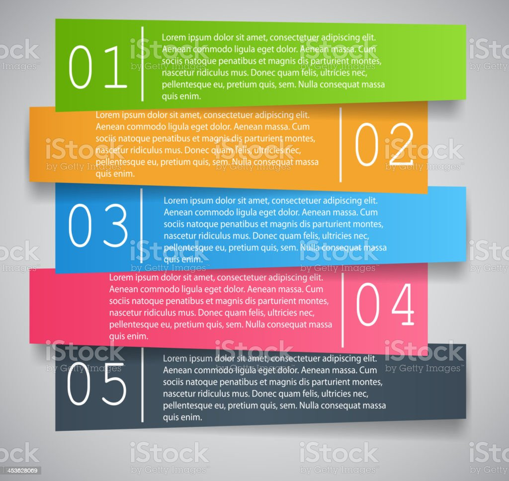 Photograph of an infographic business template illustration royalty-free stock vector art