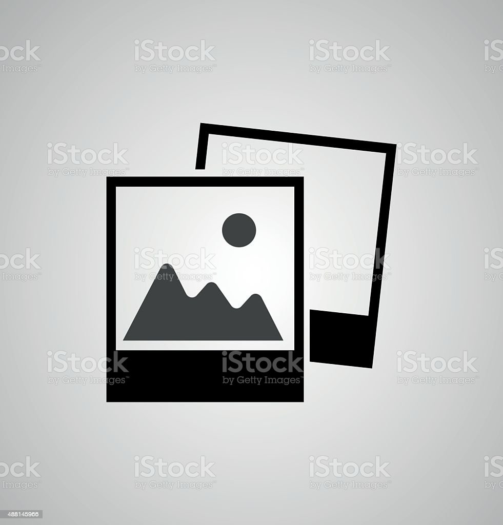 photograph vector icon vector art illustration