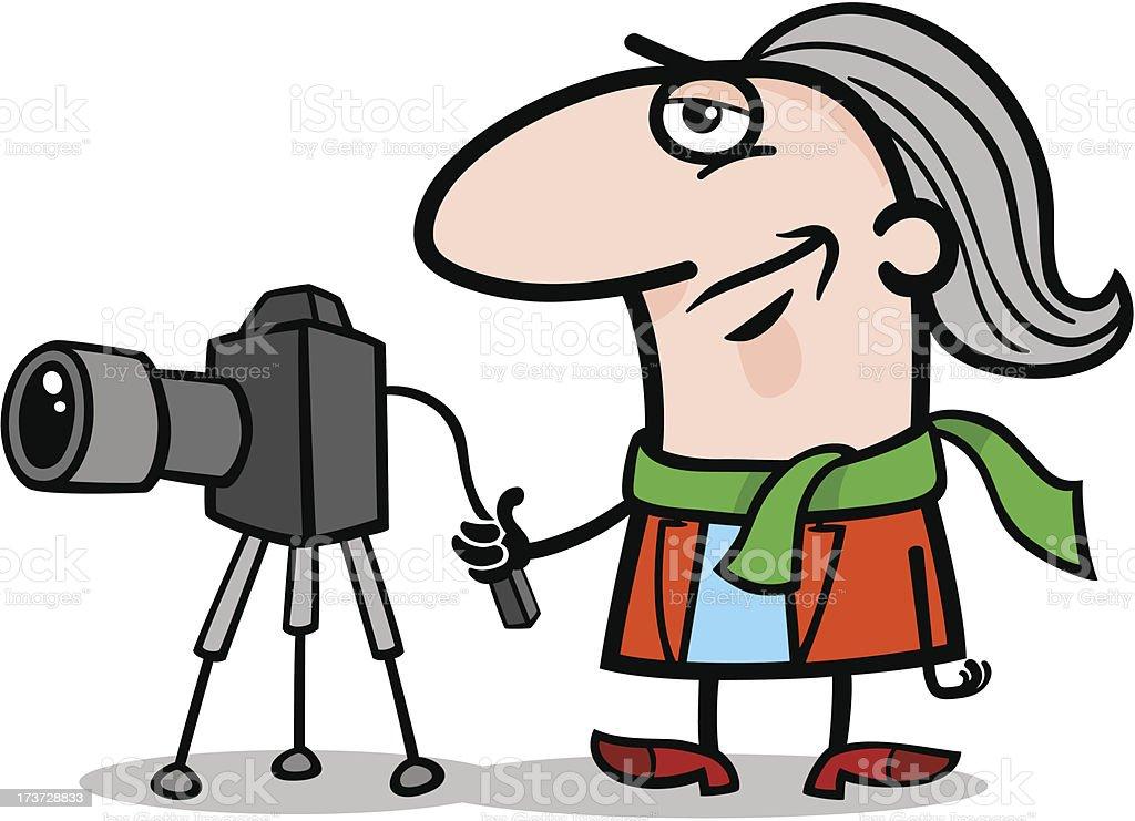 photographer artist cartoon illustration royalty-free stock vector art
