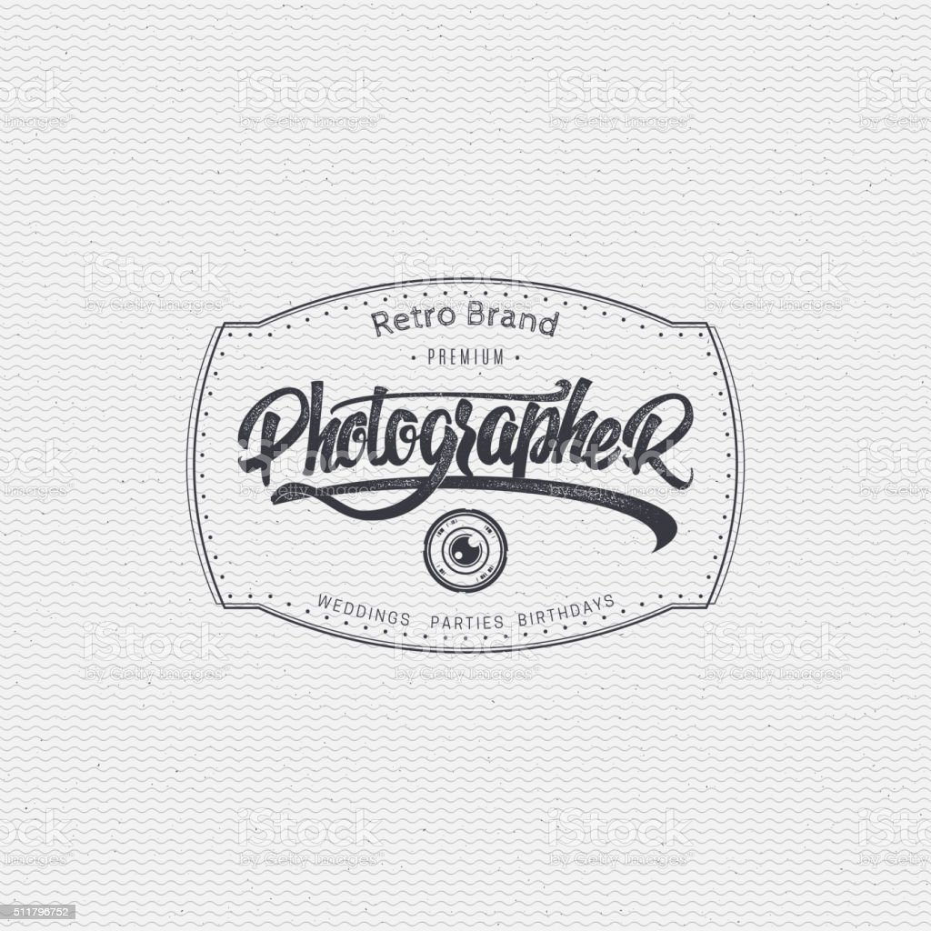 Photographer badge insignia for any use such as signage design vector art illustration